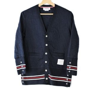 Thom Browne Quilted Down Cardigan Sweater Men's 1